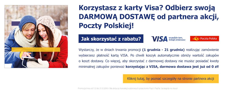 Poczta Polska i Visa z dostawą gratis!